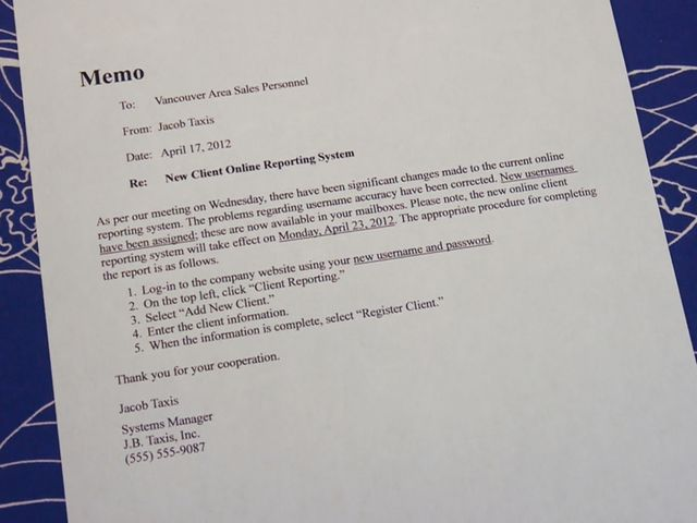 Learn ESL Tips for Writing a Business Memo Business memo and - sample business memo
