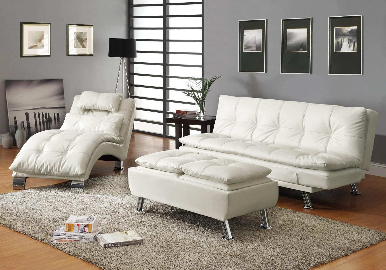 Dilleston White Sofa Bed In 2020