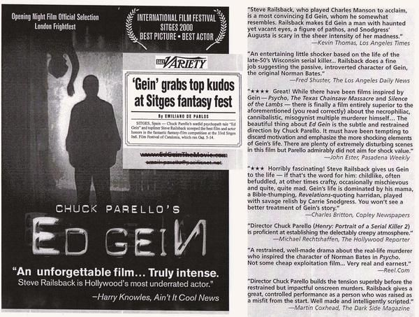 Review Sheet For Chuck Parello S Ed Gein Night Film