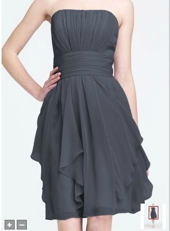 Chiffon Dress David's Bridal Pewter