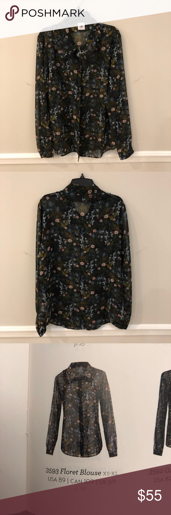 CAbi floret blouse Smoke and pet free home 2day shipping