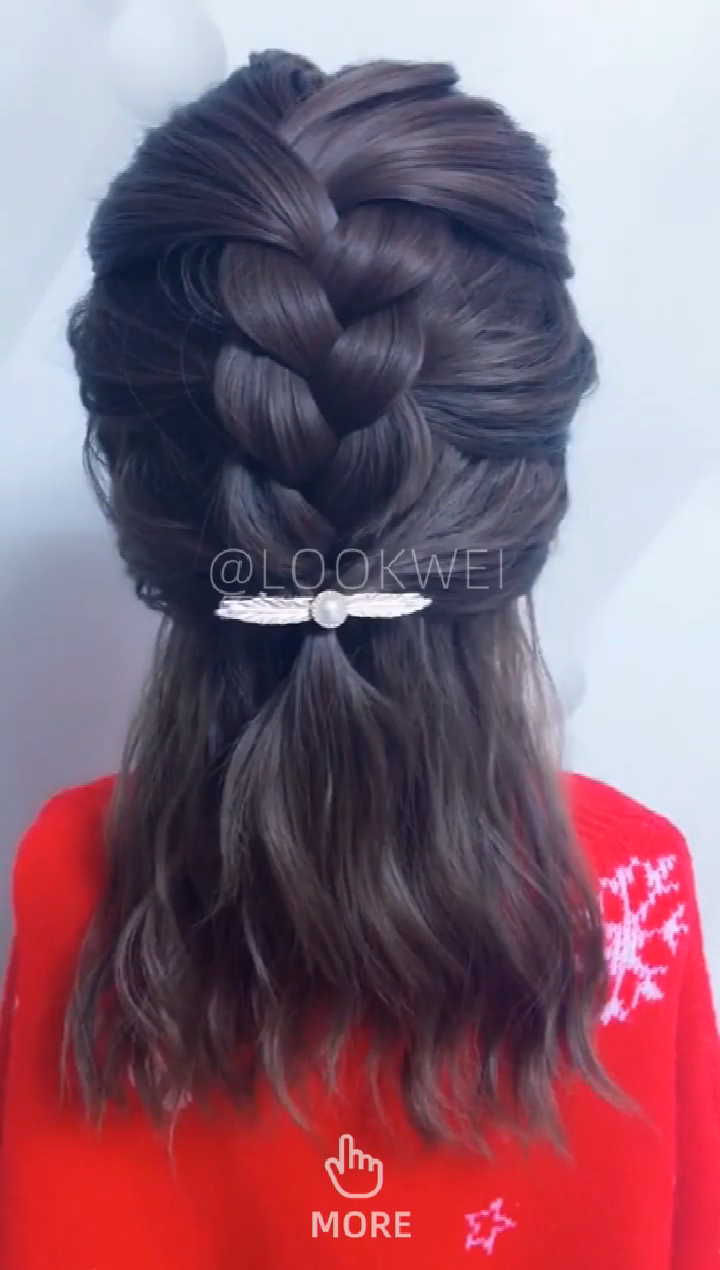 A simple and beautiful hairstyle, easy to learn #coiffurecheveuxmilong