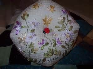ribbon embroidery pin cushion