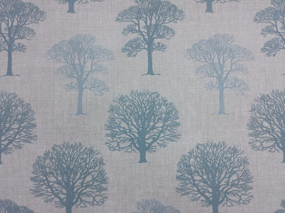 MARSON TREES DUCK EGG DESIGNER CURTAINS BLINDS CRAFT UPHOLSTERY FABRIC
