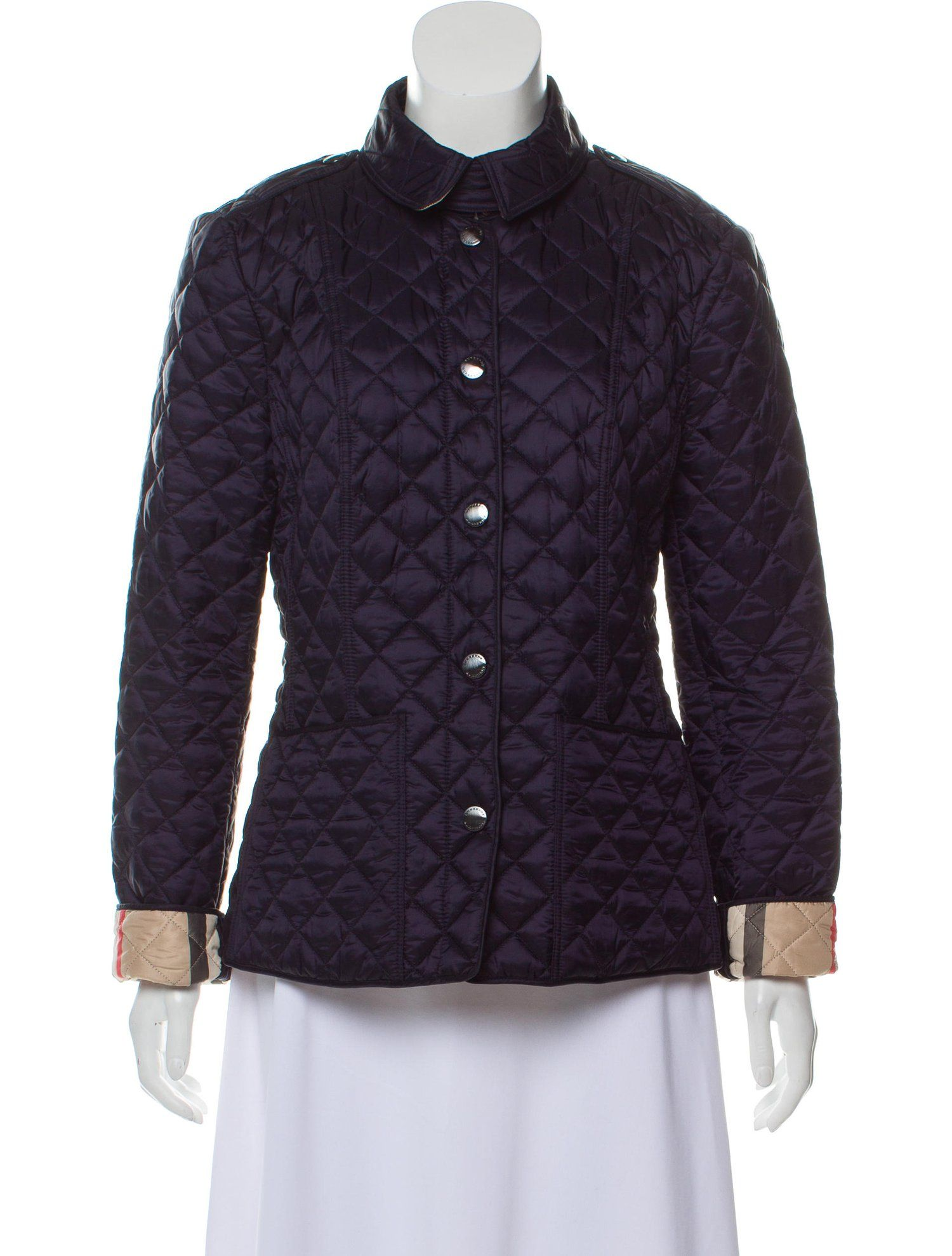 Burberry Quilted Snap Up Jacket Quilted Burberry Jacket Burberry Quilted Jacket Jackets Quilted Jacket