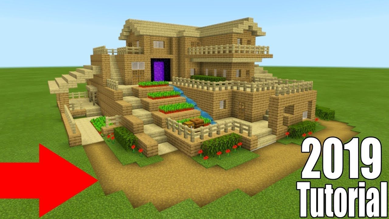 Minecraft Tutorial How To Make A Ultimate Wooden Survival Base 2019 Tutorial Youtube Minecraft Houses Survival Minecraft Wooden House Minecraft Survival