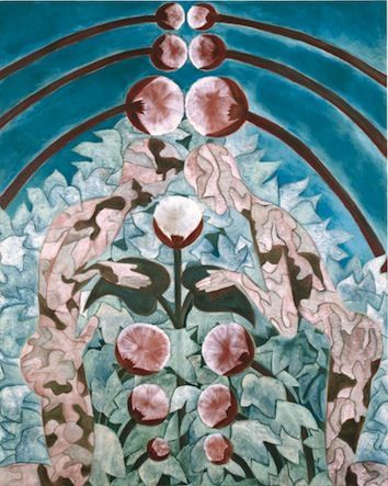Francesco Clemente Camouflage Paradise, 2010 Oil on canvas 219,7 x 177,1 Bruno Bischofberger, Zürich, Schweiz