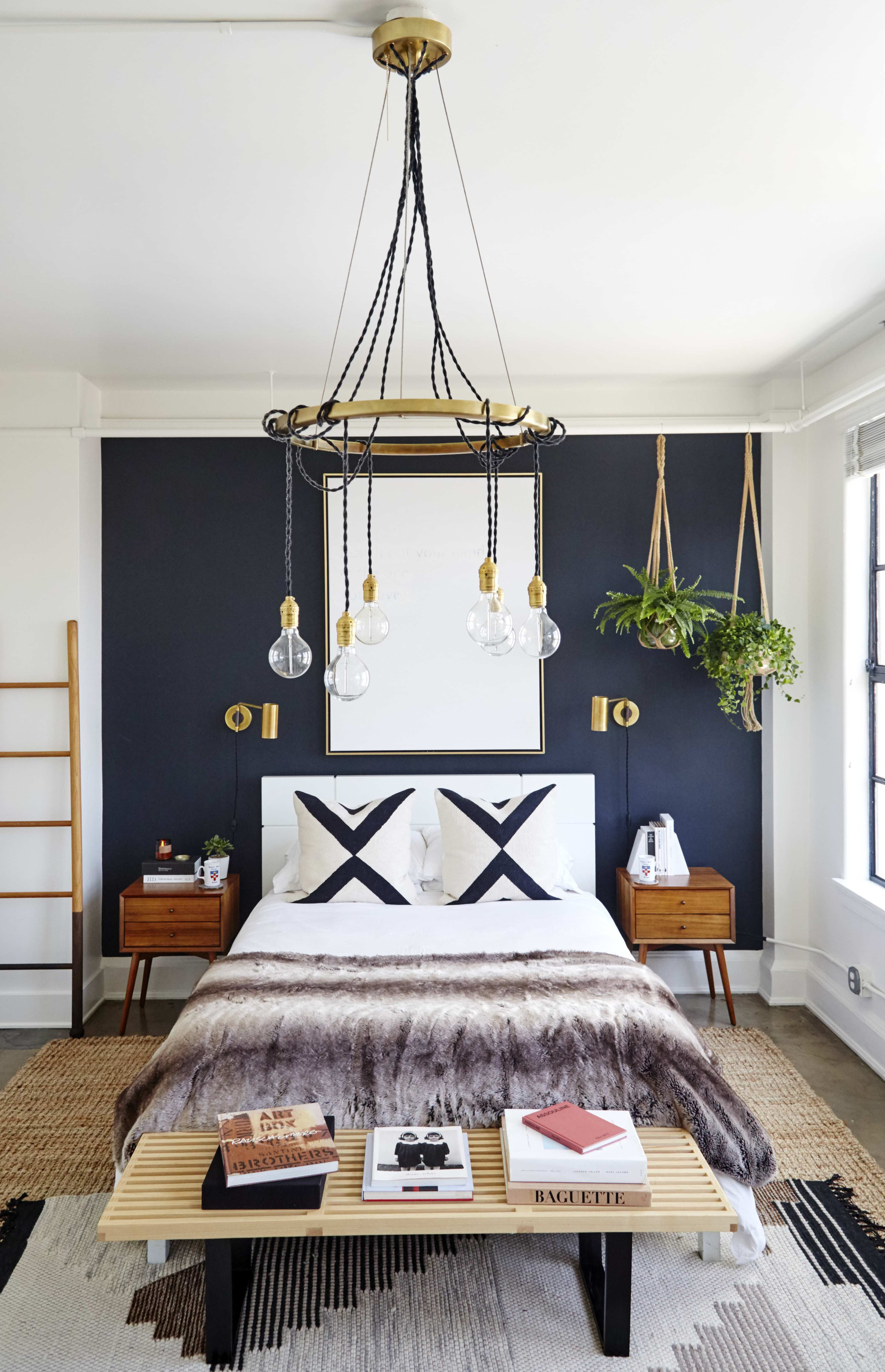 the coolest it girl bedrooms we want to steal home garden rh pinterest com  pinterest dark blue wall