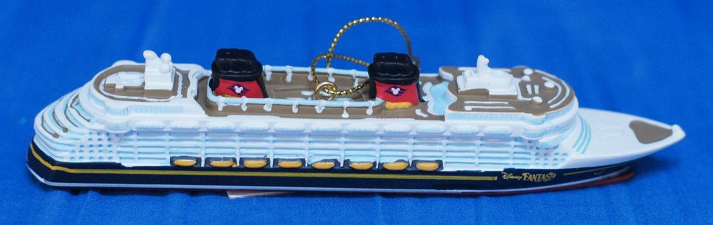 Disney Cruise Line Fantasy Resin Christmas Ornament Ship Figurine - Disney cruise ship toy
