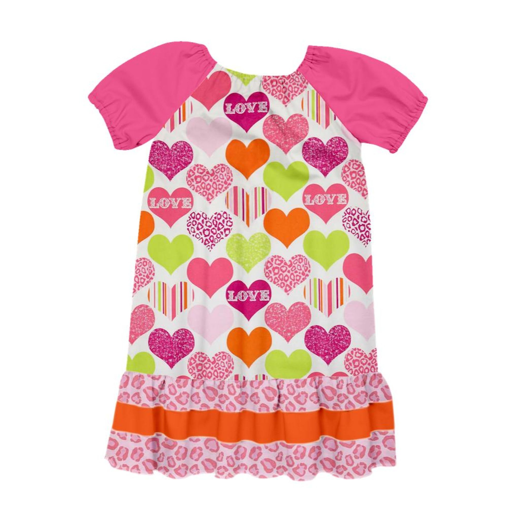 Check out the dress Allison Winters Rader created on Designed By Me from Lolly Wolly Doodle where YOU are the designer! #cheetah #hearts #lollywollydoodle