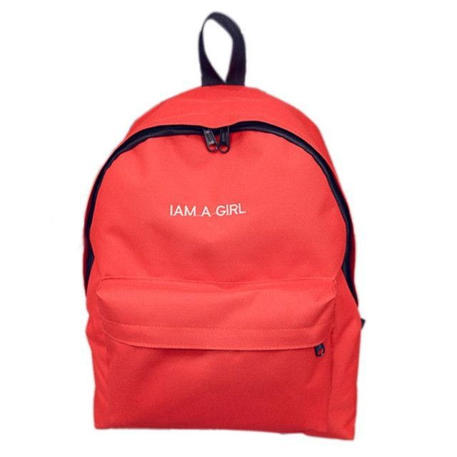 307a997c089 Lovely Casual Travel Bag Letter Print I am a girl Women Canvas Backpack  School Bag For Teenager Lady Laptop Bag Escolar Mochila