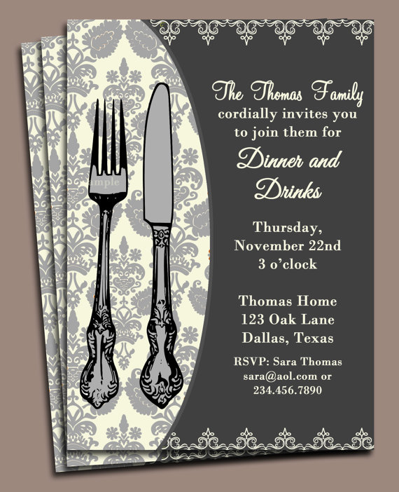 photograph about Free Printable Rehearsal Dinner Invitations identify Supper Invitation Printable or Revealed with Free of charge Transport