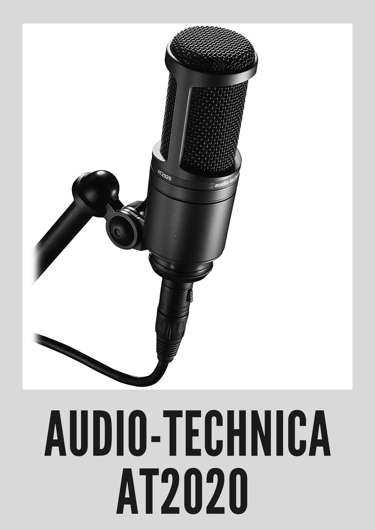 Audio Technica At2020 Cardioid Condenser Studio Xlr Microphone Audio Technica Microphone Audio