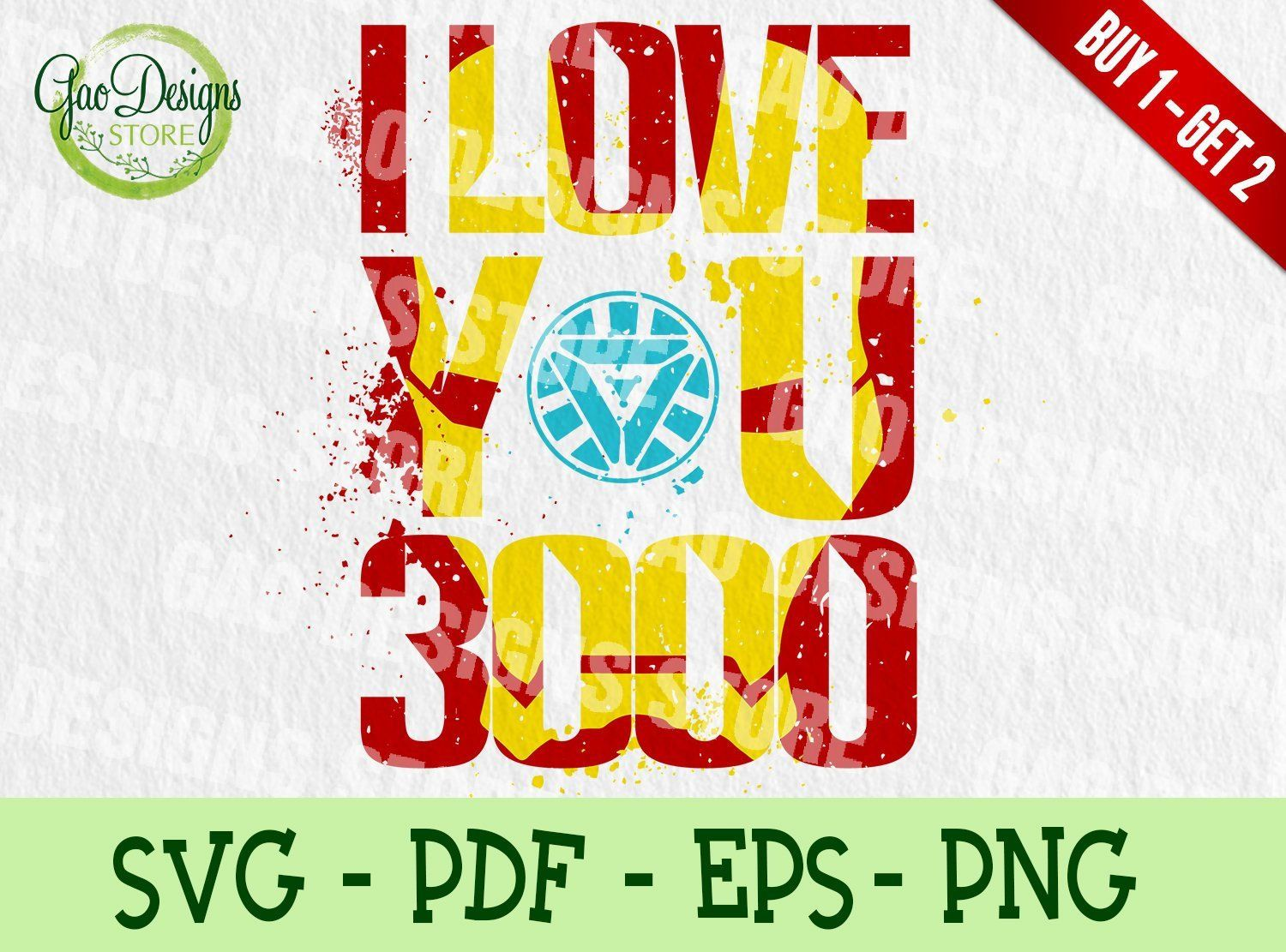 Download I LOVE YOU 3000 Svg: Fathers's Day Gift, Iron Man Marvel ...
