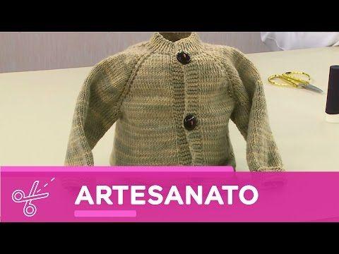 2ae54c022165 YouTube   Tejidos BB.   Casaco de trico, Tricô bebê e Vida com arte
