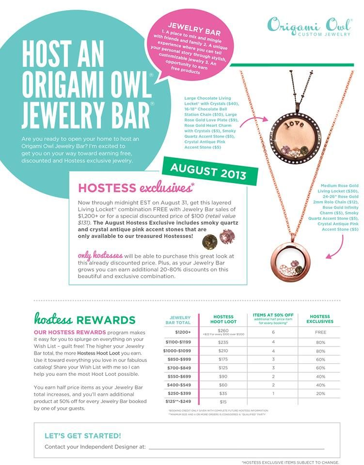 Book a party for August and earn FREE jewelry + Hostess Exclusive. Our layered Living Locket design, Chocolate Locket with Crystals complimented with our medium Rose Gold locket, is a stunning fall look! Host a home, book or Facebook party - whatever suits your busy lifestyle.  Contact me for details!