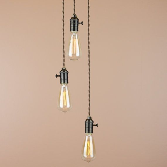 Industrial Edison Light Bulb Chandelier Multiple Cascading