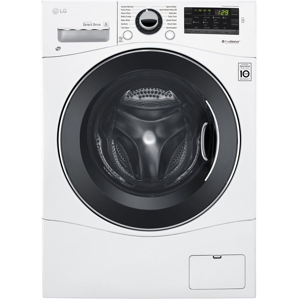 Washer And Dryer Bundles Package Lg 2 2 Cu Ft 14 Cycle Front Loading Washer And 4 2 Cu Ft 14 Cycle Com In 2020 Ventless Dryer Washer Dryer Combo Washer And Dryer