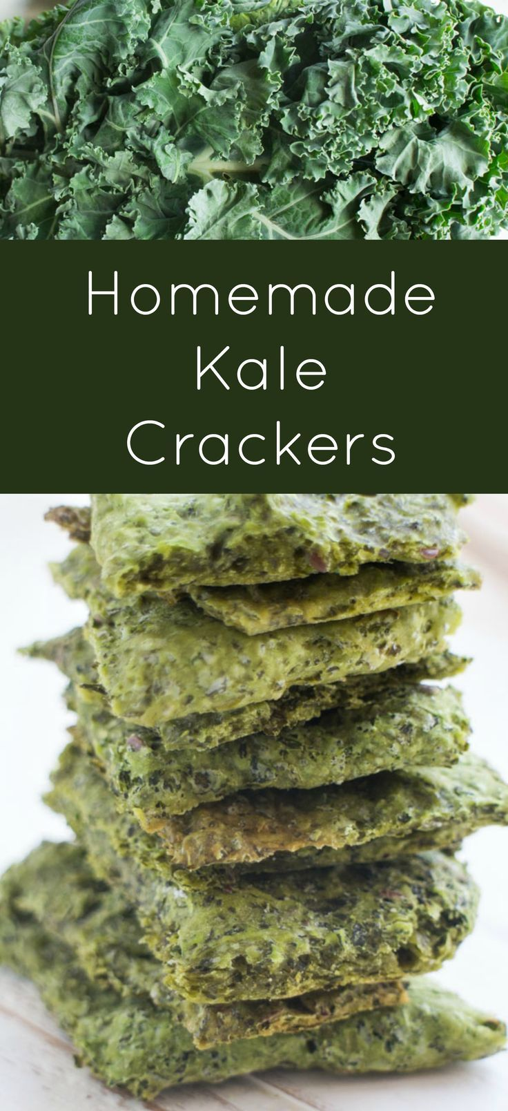 Simple Homemade Kale Crackers These Homemade Crackers Are Made By Combining A Bunch Of Kale And Flour Healthy Snacks Recipes Cracker Recipes Healthy Crackers