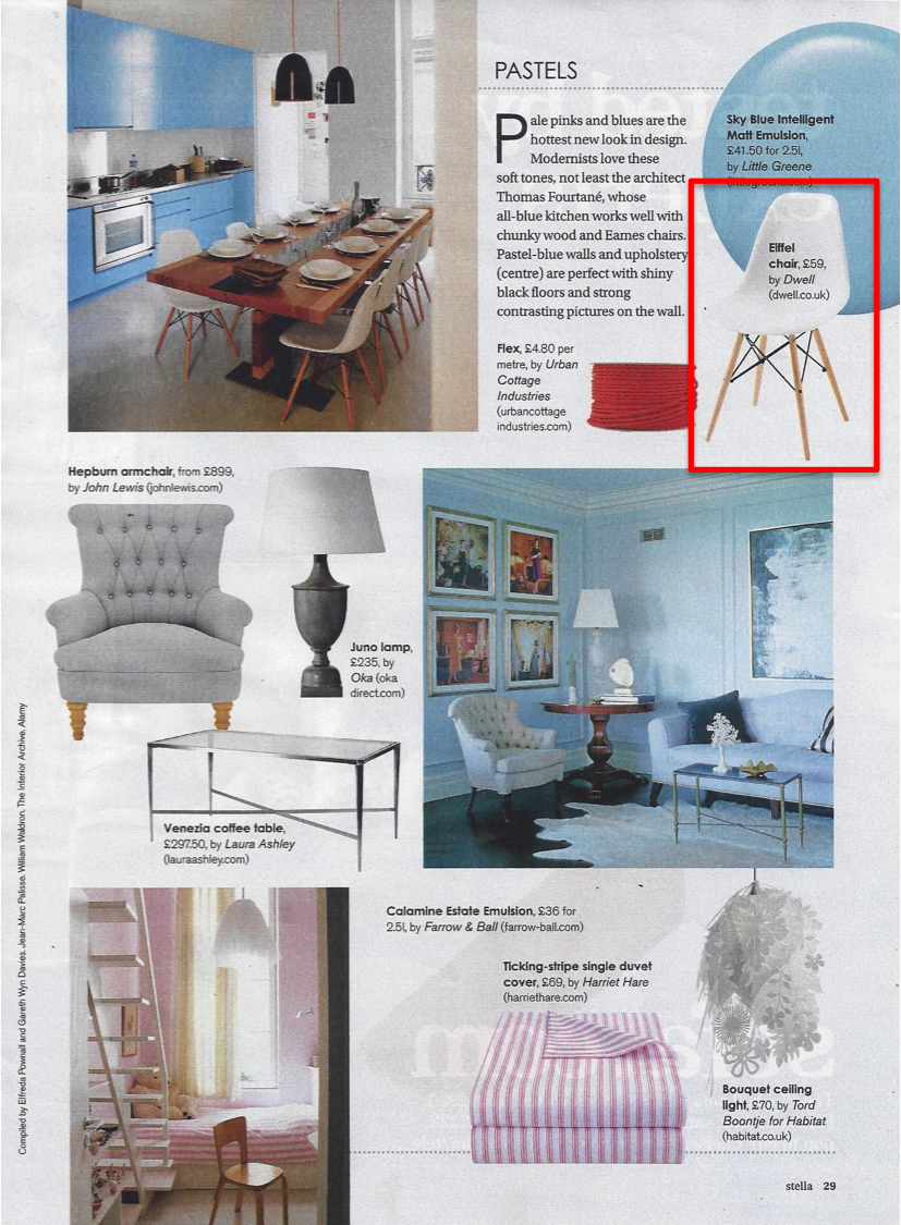 Dwell's Eiffel chair features in Stella magazine's interiors special