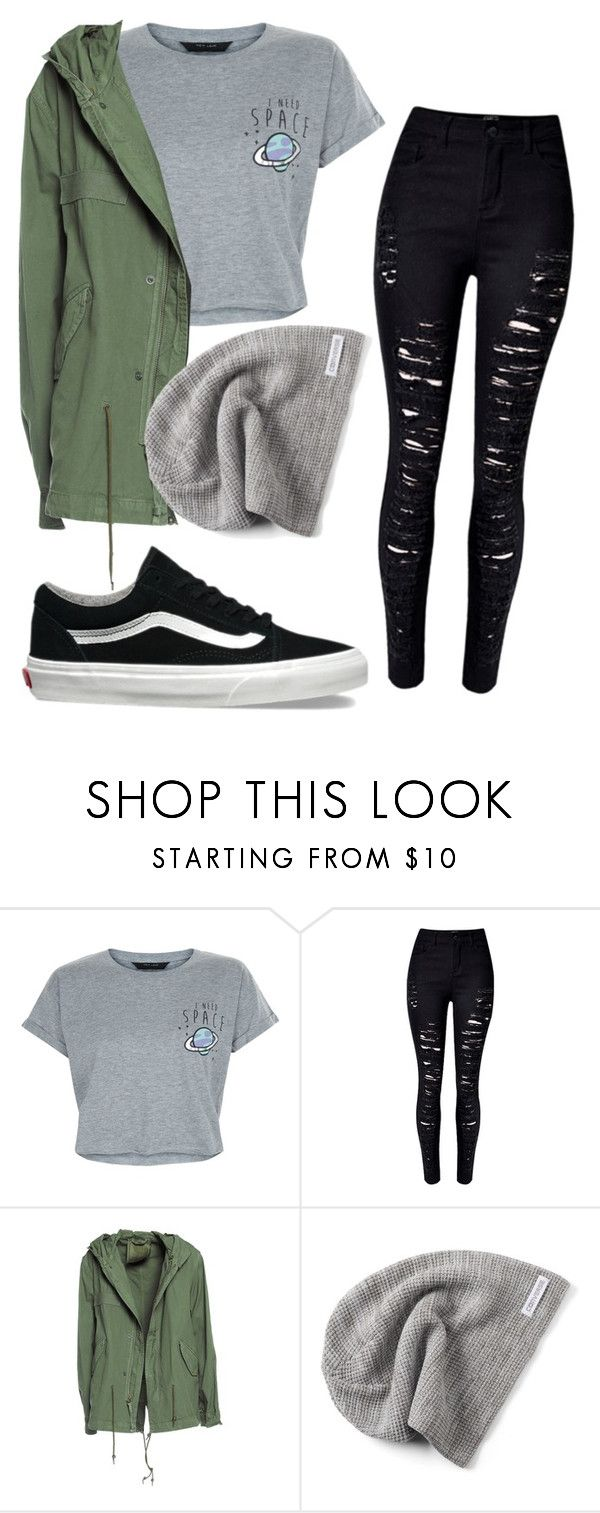 """""""#No name"""" by eemaj ❤ liked on Polyvore featuring New Look, WithChic, Mr & Mrs Italy, Converse and Vans"""