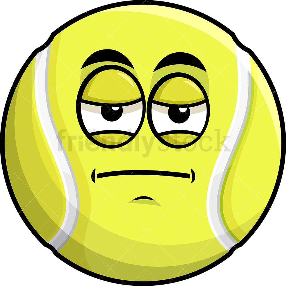 Heavy Eyes Tennis Ball Emoji Cartoon Clipart Vector Friendlystock Cartoon Clip Art Emoji Clipart Tennis Ball