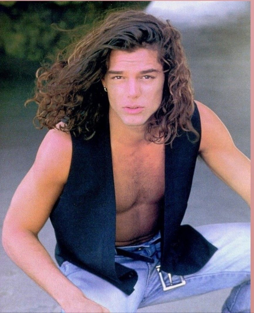 Pin By Val On Ricky Junior Ricky Martin Long Hair Styles Men Celebrities