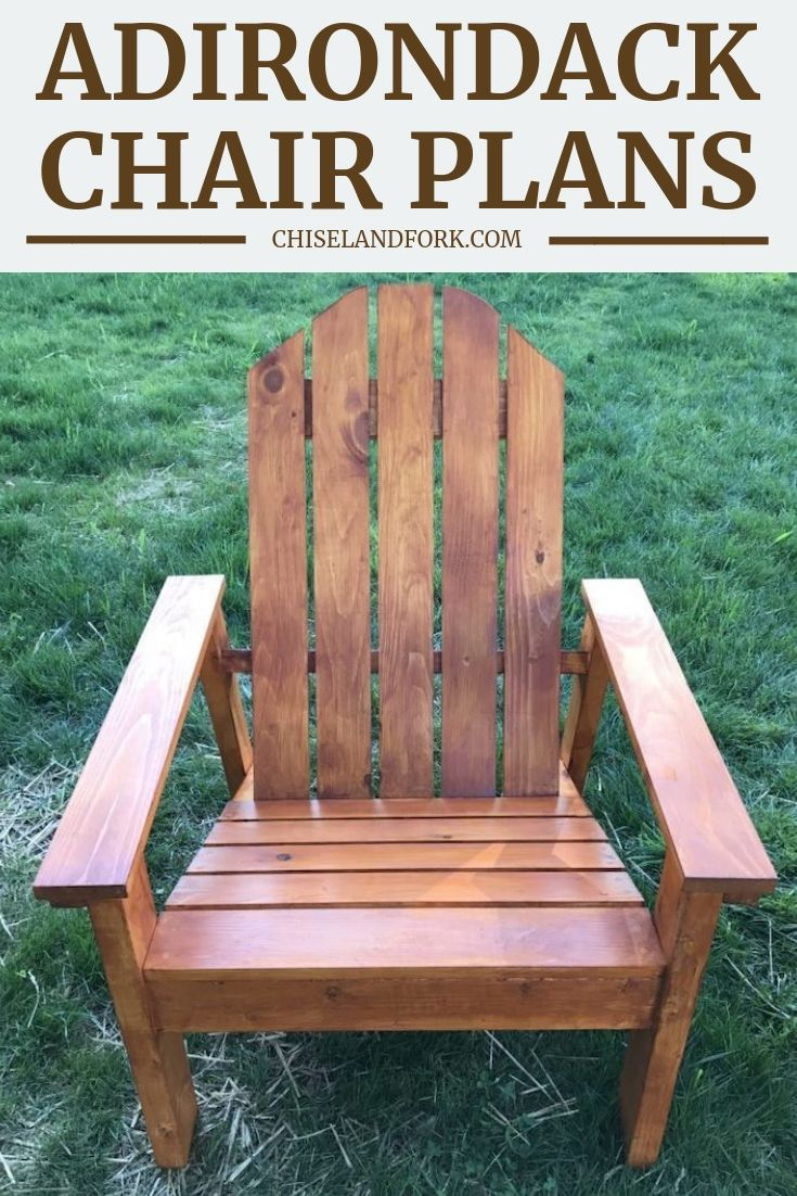 Adirondack Chair Plans (Step-by-Step Instructions) - Chisel & Fork