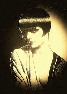 Diary of a Lost Girl - Louise Brooks digital portrait - Dino Olivieri   da ! / dino olivieri / www.onyrix.com