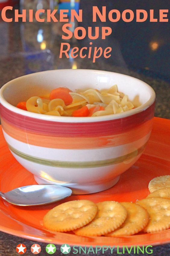 This recipe for homemade chicken noodle soup is so  easy to make. It has a fresh, savory, home-cooked taste, and the total time to make it is only 30 minutes. It's hearty enough to be a one-dish meal.