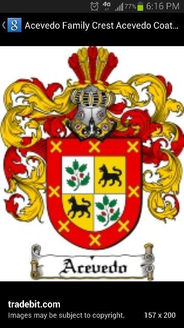 Acevedo family crest from Spain