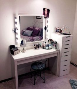 Modern Makeup Vanity With Drawers Dressing Table Pinterest Vanities And