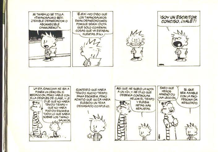 Calvin y hobbes: la tarea