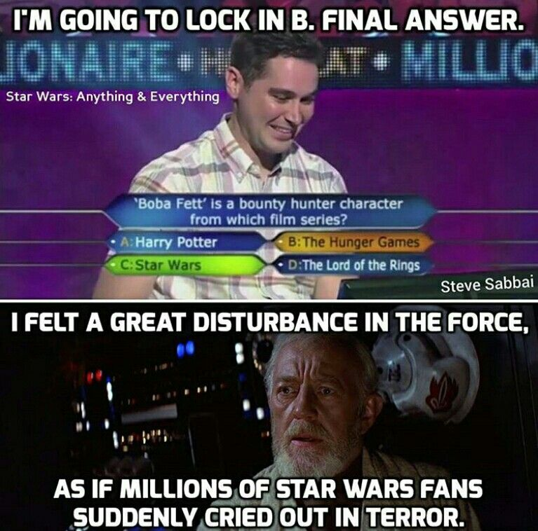 This Is Unforgivable Star Wars Humor Funny Star Wars Memes Star Wars Jokes