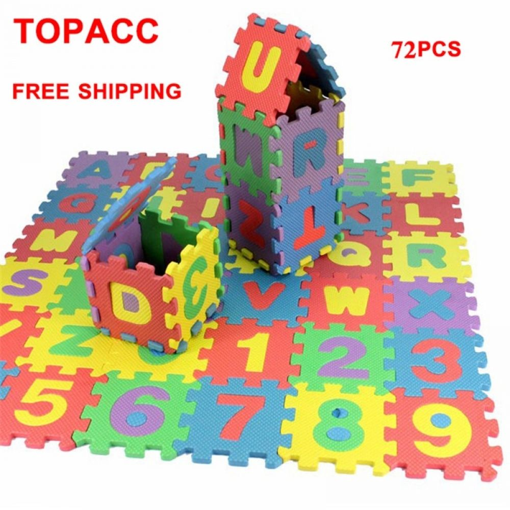 CHILDREN KIDS ALPHABET /& NUMBERS PLAY MAT MULTI COLOUR INTERLOCKING PLAYMAT TOY