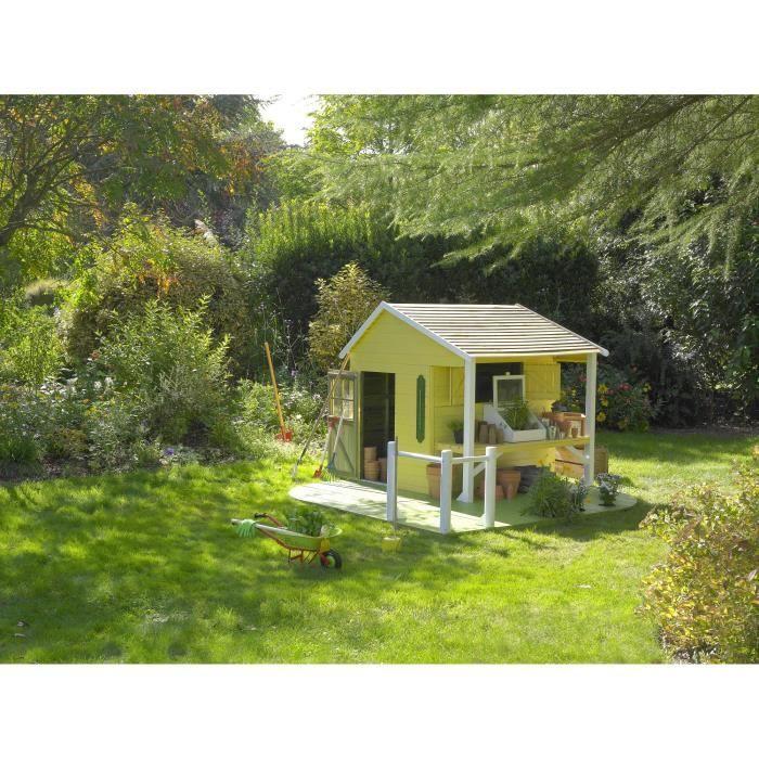 maison jeux ext rieur cerland maisonnette bois pour enfant ciboulette jardin pour enfant. Black Bedroom Furniture Sets. Home Design Ideas