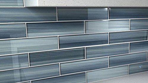 deep ocean blue gentle grey glass tile perfect for