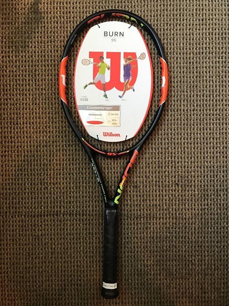 Wilson Burn 95 Tennis Racket Grip Size 4 1 4 With Images Tennis Tennis Racket Rackets