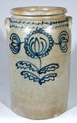 "Alexandria Stoneware Jar, Stamped ""B.C. MILBURN / ALEXA."""