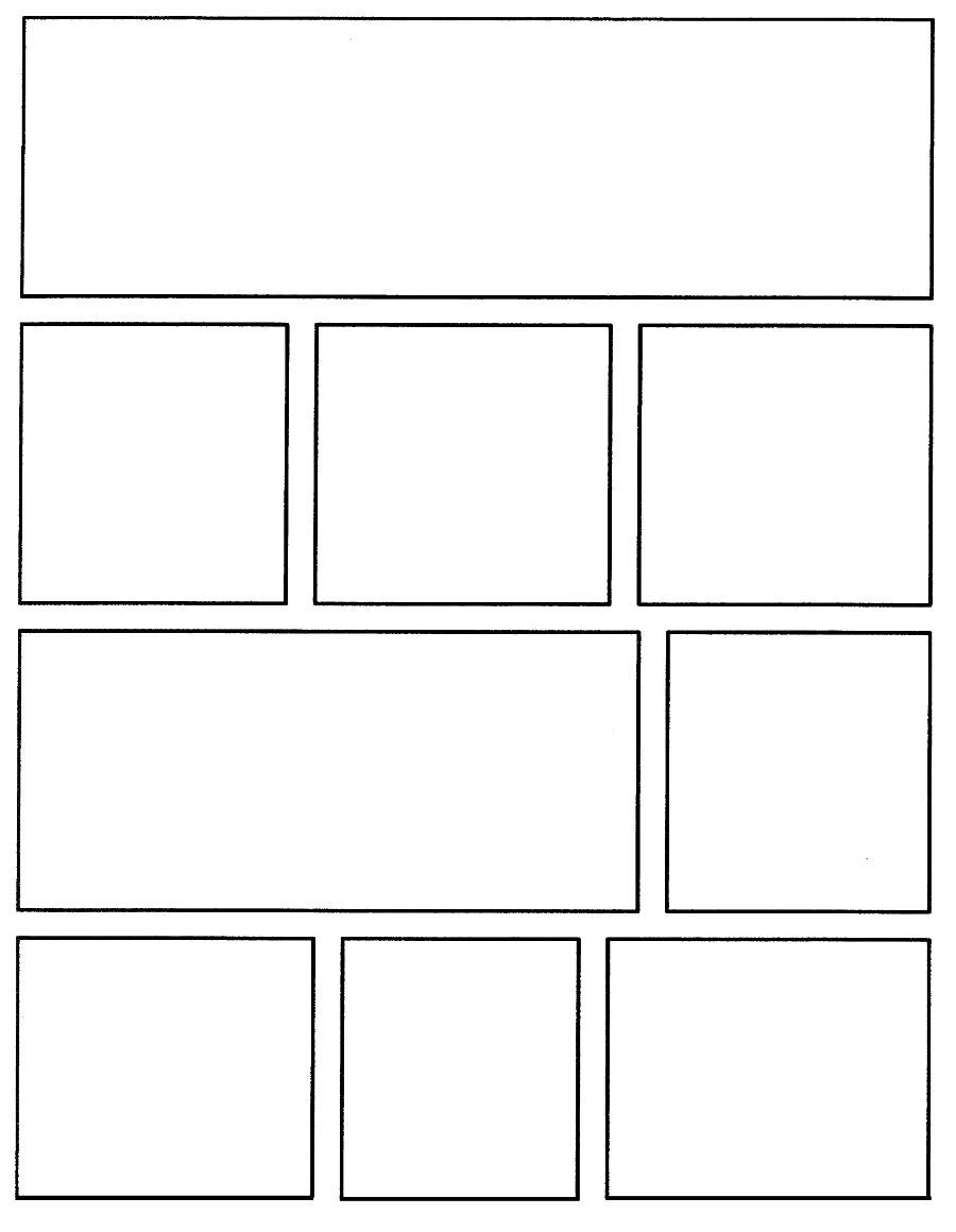 Printable Comic Strip Template Pdf Word Pages Comic Strip