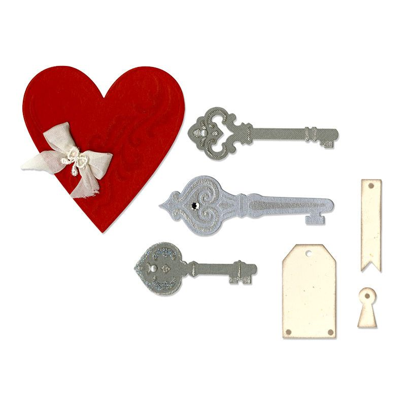 Sizzix - Thinlits Die - Heart, Keys and Tags at Scrapbook.com