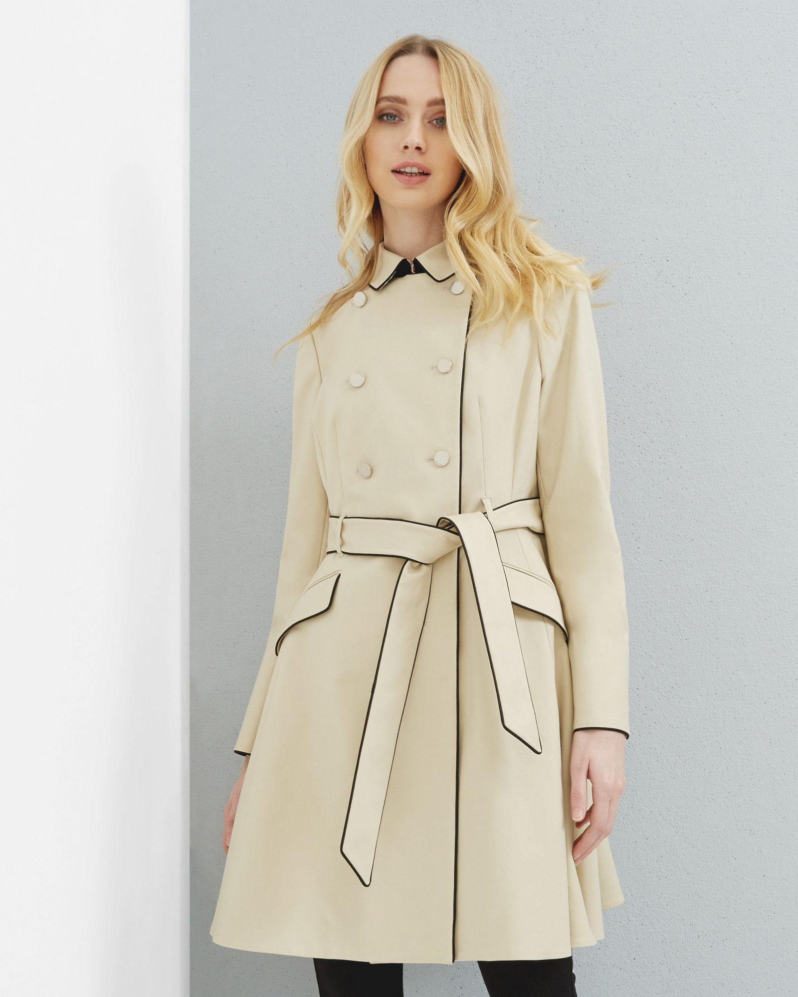 1e82fdcce75d32 Double breasted trench coat - Taupe