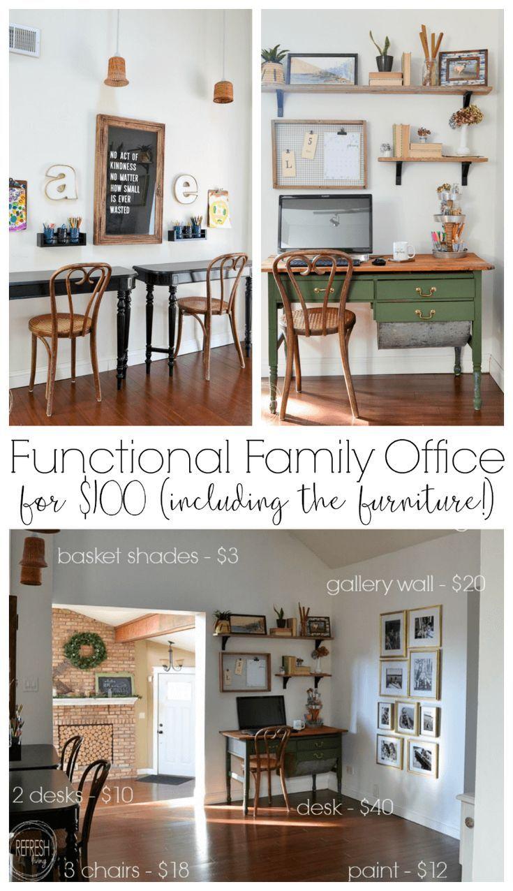 vintage modern home office reveal 100 room challenge budgeting