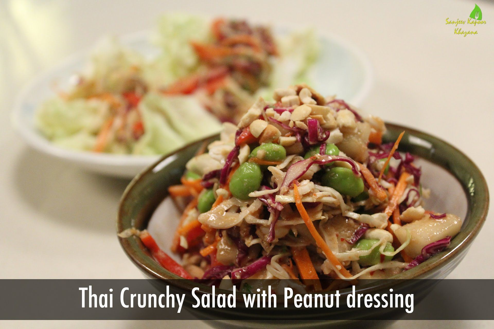 Thai crunchy salad with peanut dressing thai recipes sanjeev thai crunchy salad with peanut dressing thai recipes sanjeev kapoor forumfinder Choice Image