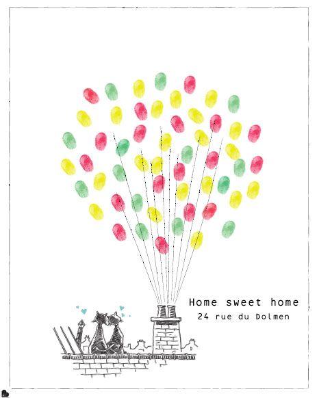 affiche empreintes pour pendaison de cr maill re les mots sont des cadeaux marie ben. Black Bedroom Furniture Sets. Home Design Ideas