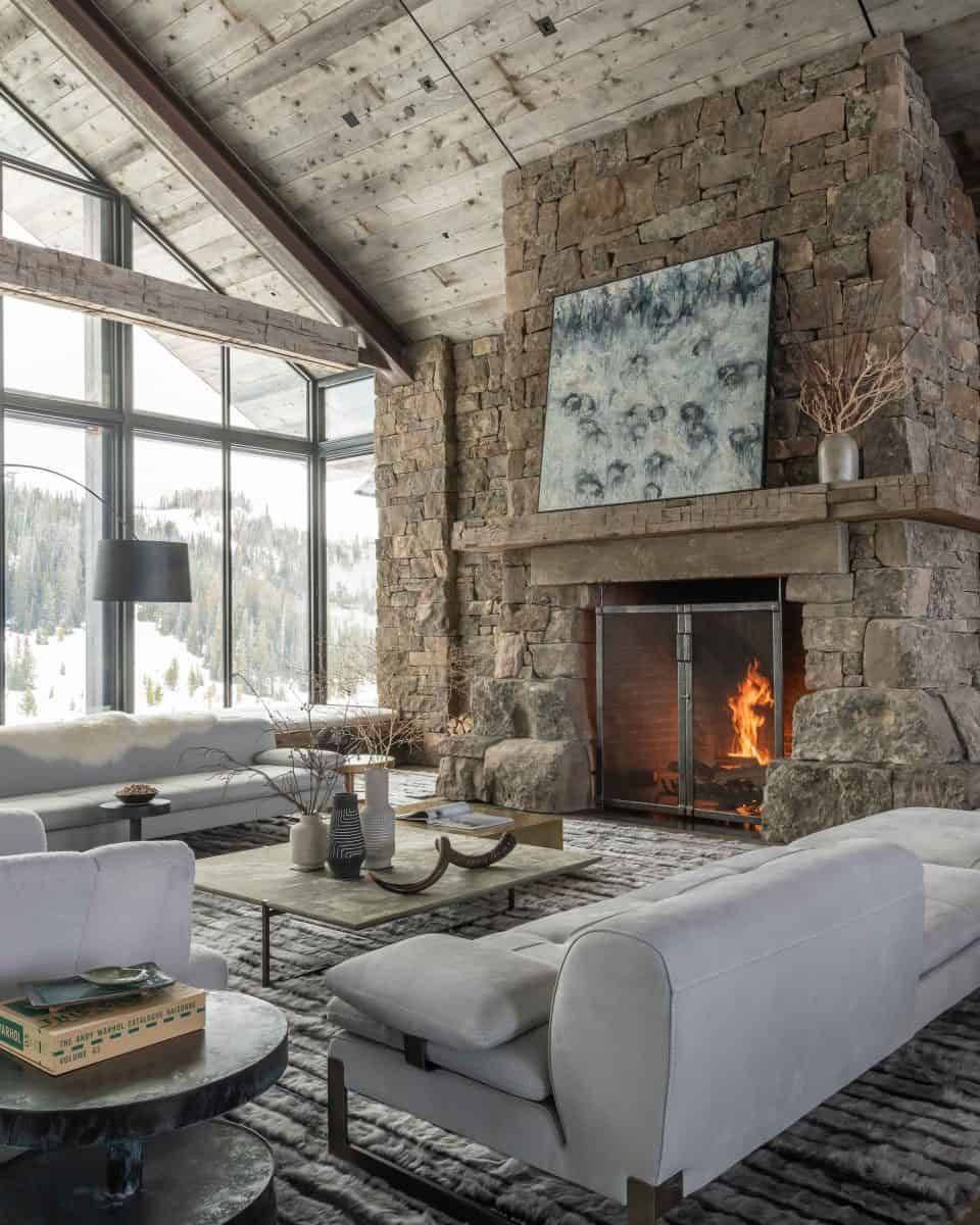 Dreamy Rustic Modern Mountain Dwelling Surrounded By Big Sky