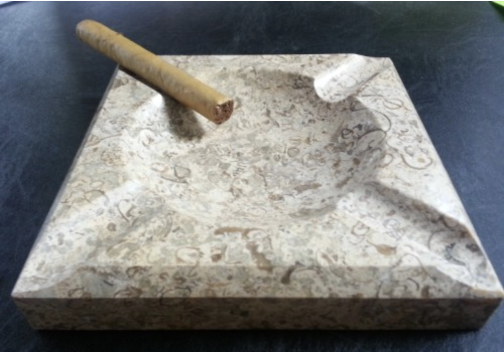 Engraved Square Fossil Stone Ashtray In 2020 Engraved Humidor Personalized Engraved Gifts Cigar Ashtray