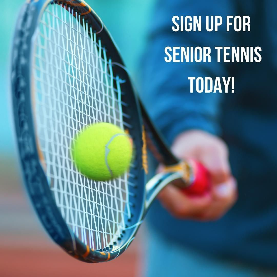 Don't about our senior tennis clinics every Tuesday