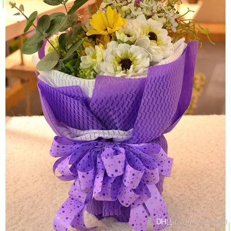 Wholesale Price Elegant Packaging Paper 53x60cm Flower Wrapping
