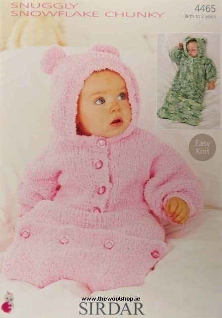 dd55a624a 4465 - SIRDAR SNUGGLY SNOWFLAKE CHUNKY ALL-IN-ONE KNITTING PATTERN ...